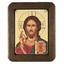 Икона на деревянной основе Спаситель с цветной эмалью, 24х30