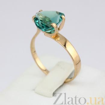 Золотое кольцо Сандра с синтезированным аметистом VLN--112-472-55