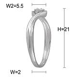Кольцо из белого золота с бриллиантом Мелодия