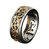 Женское обручальное кольцо Сан-Тропе из комбинированного золота с бриллиантами