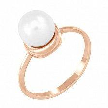 Золотое кольцо с жемчугом Нежность