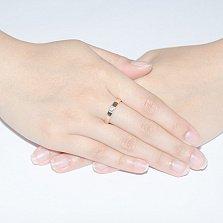 Кольцо из красного золота с бриллиантом Дамара