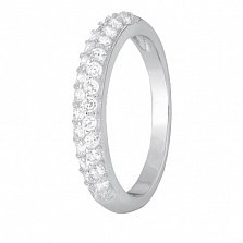 Серебряное кольцо с цирконием Констанца