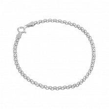 Серебряный браслет Калькутта, 3 мм