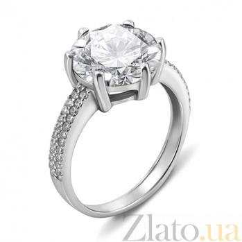 Серебряное кольцо с цирконием Стефани