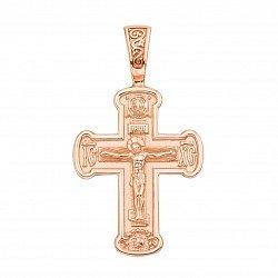 Православный крестик из красного золота 000133331