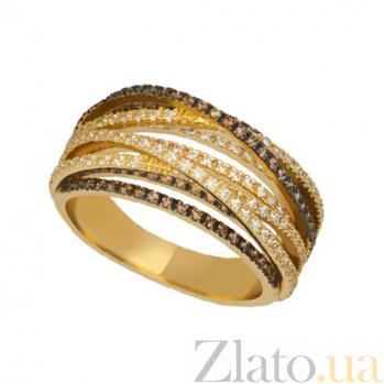 Кольцо из желтого золота с фианитами Наоми VLT--ТТТ1243