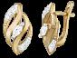 Позолоченные серьги из серебра с фианитами Соррель SLX--С3Ф/073