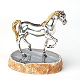 Серебряная статуэтка с позолотой Лошадь