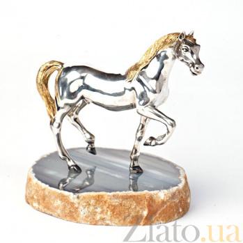 Серебряная статуэтка с позолотой Лошадь 304