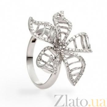 Кольцо из белого золота с бриллиантами Орхидея 000030523