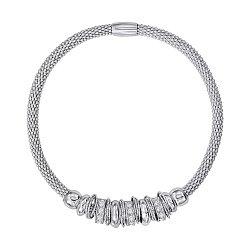 Браслет из серебра с фианитами 000146689