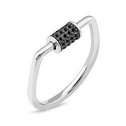Срібне кільце з фіанітами 000149477