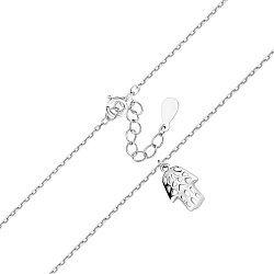 Серебряный браслет с подвеской-ладошкой Фатимы 000113857