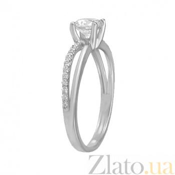 Кольцо из белого золота с фианитами Сандра 000022860