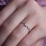 Серебряное кольцо Ренетт с цирконием