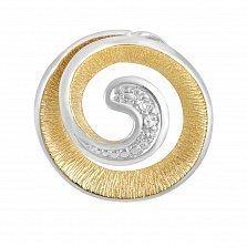 Кулон из комбинированного золота Вечный зов с бриллиантами
