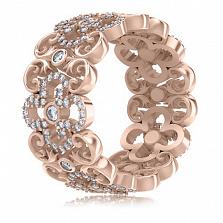 Кольцо из розового золота с бриллиантами Долина грез: Праздник Жизни