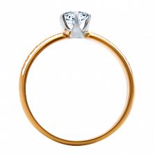 Золотое кольцо с бриллиантами и эмалью Delight