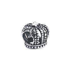 Серебряный шарм- корона с чернением 000118342