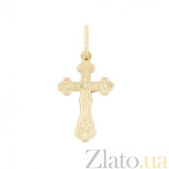 Золотой крестик Милосердие 2П071-0009