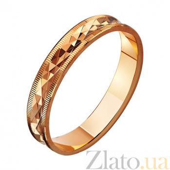 Золотое обручальное кольцо Настоящая любовь TRF--411034
