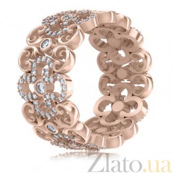 Кольцо из розового золота с бриллиантами Долина грез: Праздник Жизни 3457