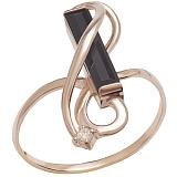Золотое кольцо Эскада с агатом и цирконием