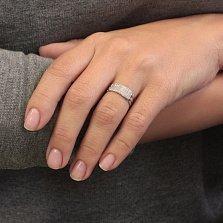 Серебряное кольцо Маджестик с фианитами