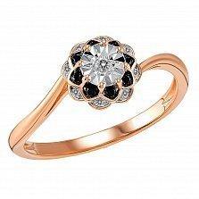Кольцо Ольга из красного золота с бриллиантами