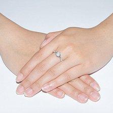 Серебряное кольцо Орхидея с фианитами