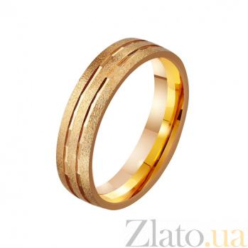 Золотое обручальное кольцо Эталон стиля TRF--4111175