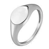 Кольцо Посвящение в стихах  в белом золоте