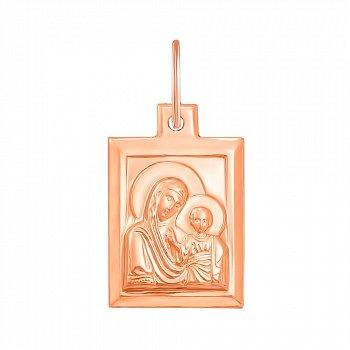 Ладанка Богоматерь с младенцем из красного золота 000129813