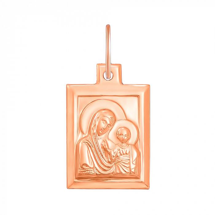 Ладанка Богоматерь с младенцем из красного золота 000129813 000129813