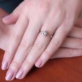 Помолвочное серебряное кольцо Для тебя с фианитом