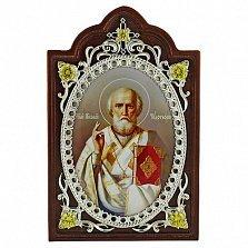 Серебряная икона Святого Николая Чудотворца