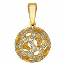 Подвеска из желтого золота Эрида