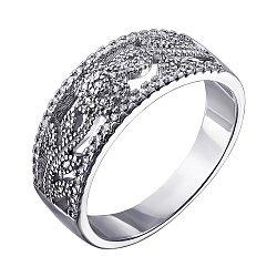 Серебряное кольцо с фианитами 000052248