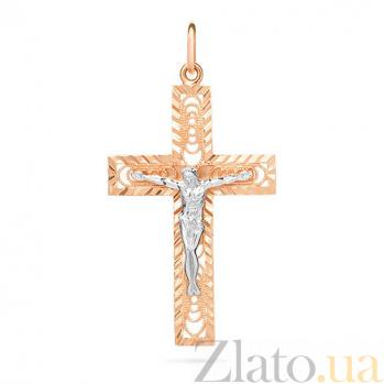 Золотой крестик Чудо любви SUF--501400