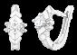 Серьги из серебра с фианитами Кристэль SLX--С2Ф/339