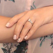 Кольцо из белого золота Артемида с бриллиантом