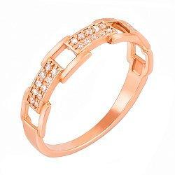 Кольцо из красного золота с фианитами 000103762