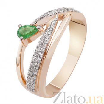 Золотое кольцо с бриллиантами и изумрудом Аура KBL--К1951/крас/изум