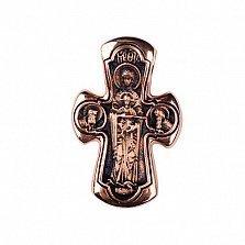 Золотой крест с чернением Небесный свет