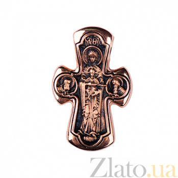Золотой крест с чернением Небесный свет ONX--п01653