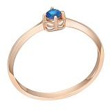 Золотое кольцо Аннет с сапфиром