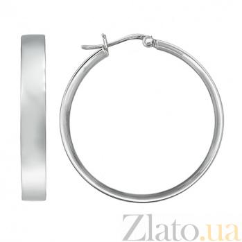 Серебряные серьги Кокетка 10030146