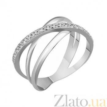 Кольцо в белом золоте Кристи с фианитами 000022972