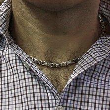 Серебряная цепь Эрондейл с чернением средней интенсивности